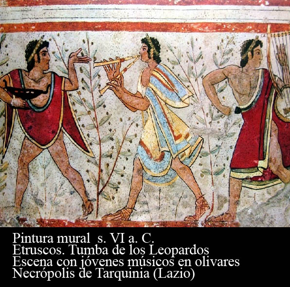 tumba leopados-asrte etrusco. Montaje elaborado por Estudio Seiscolores para Oleoturismia