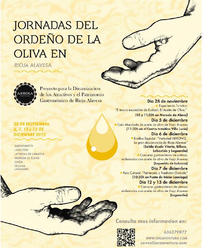 Oleoturismo en Álava: Jornada del ordeño de la oliva en la Rioja Alavesa