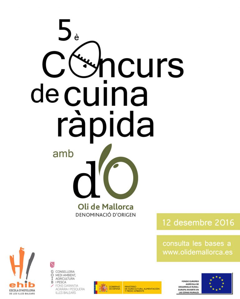 Abierta la inscripción del «V Concurs de Cuina Ràpida amb Oli de Mallorca»
